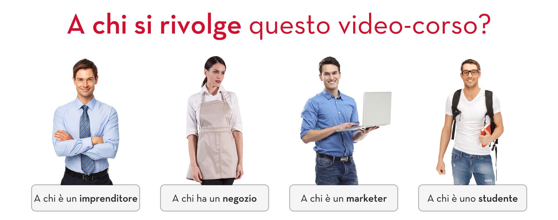 video corso creare siti web target