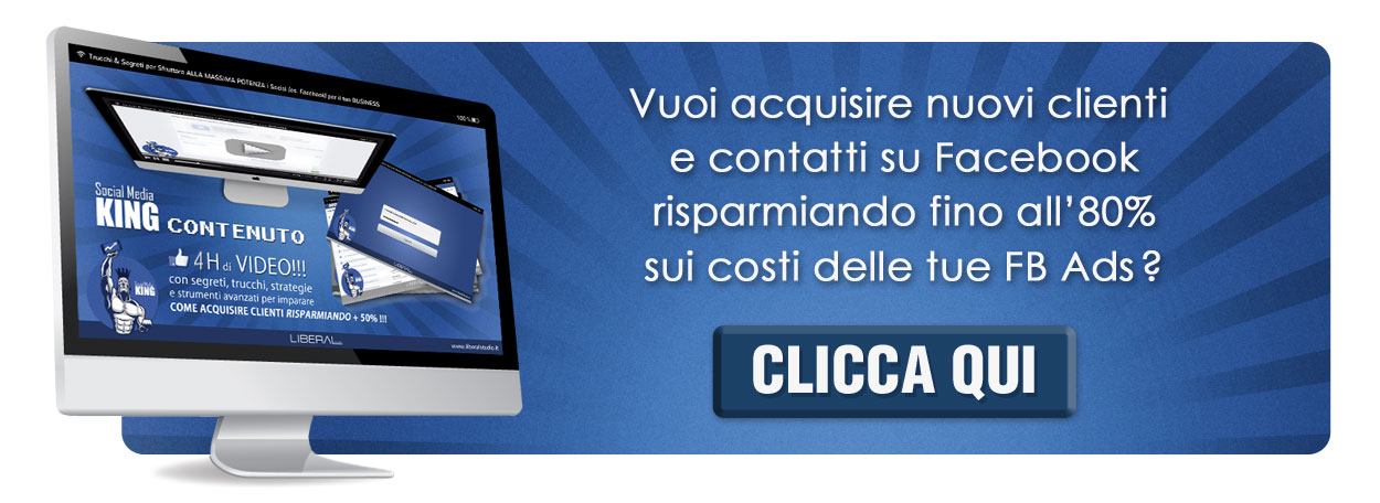 video corso facebook ads king