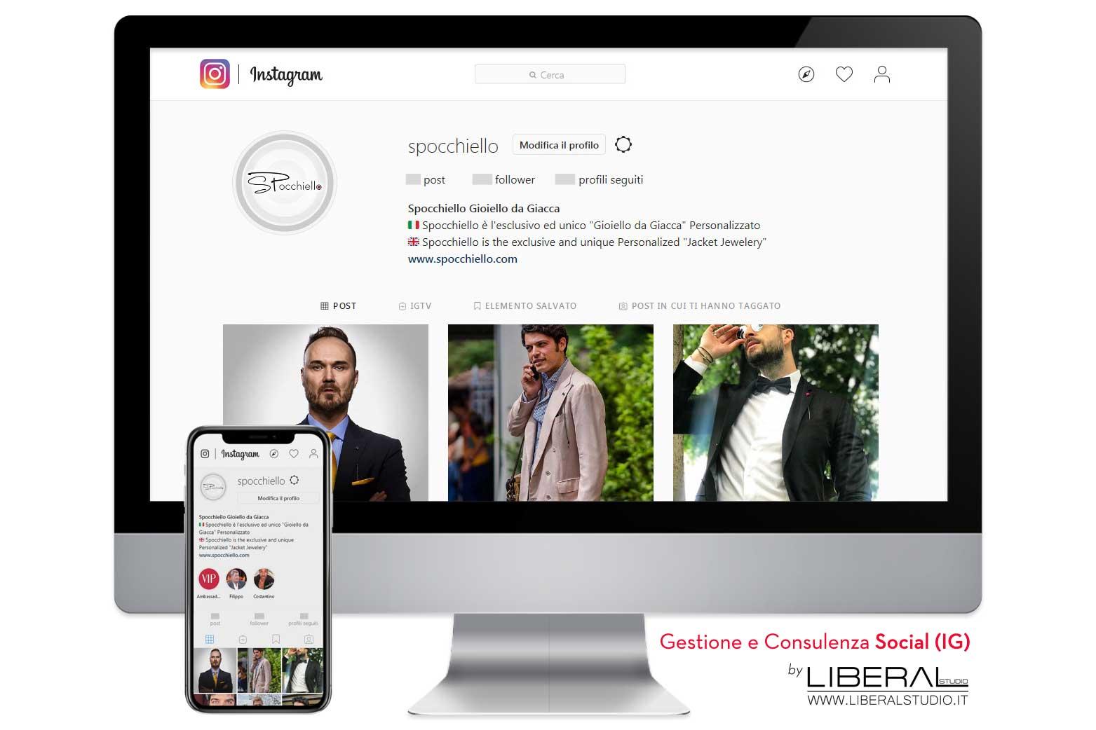 liberal studio gestione consulenza instagram